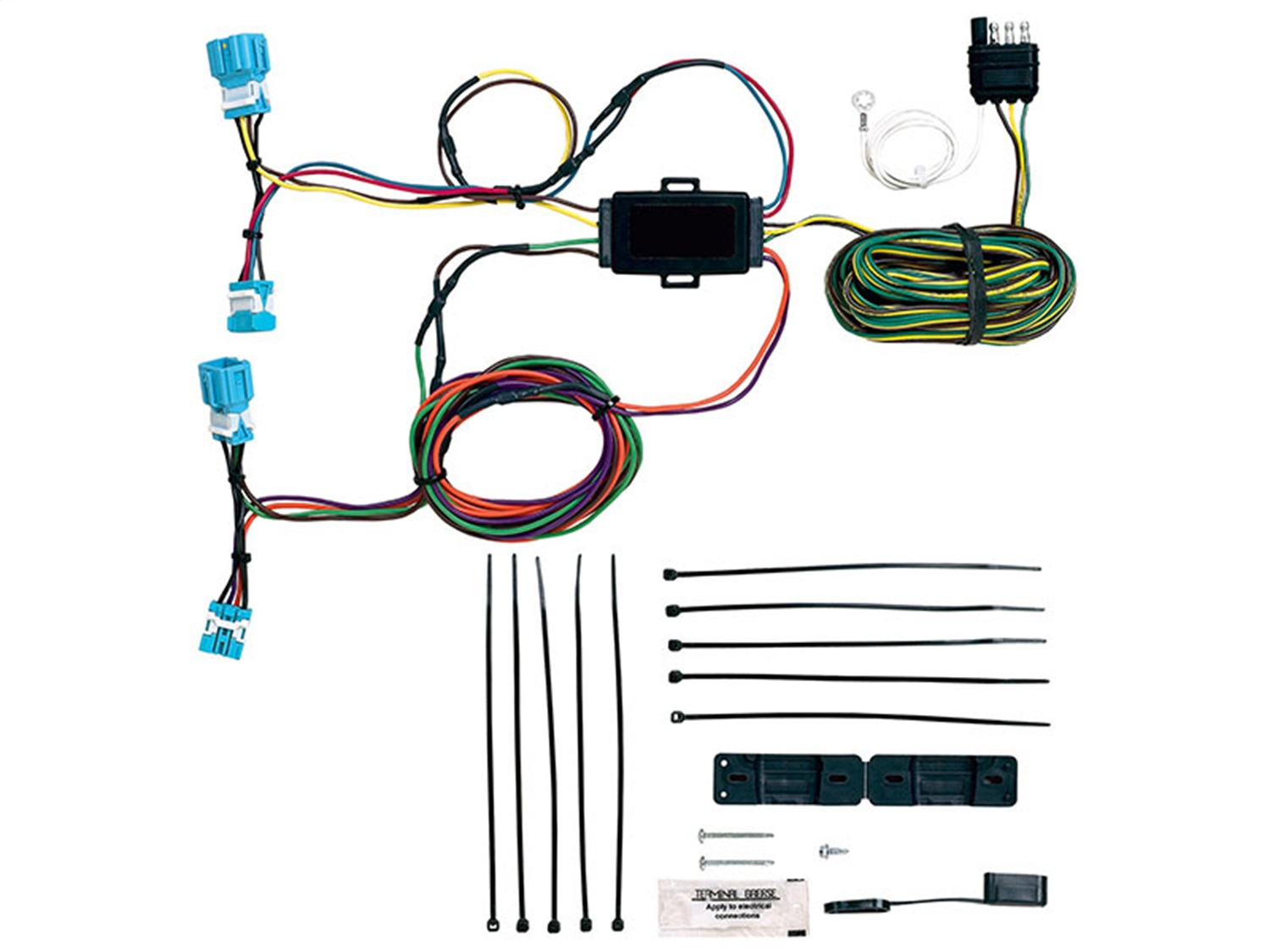 blue light wiring harness blue ox bx88281 ez light wiring harness kit fits 07-11 cr ... mustang fog light wiring harness