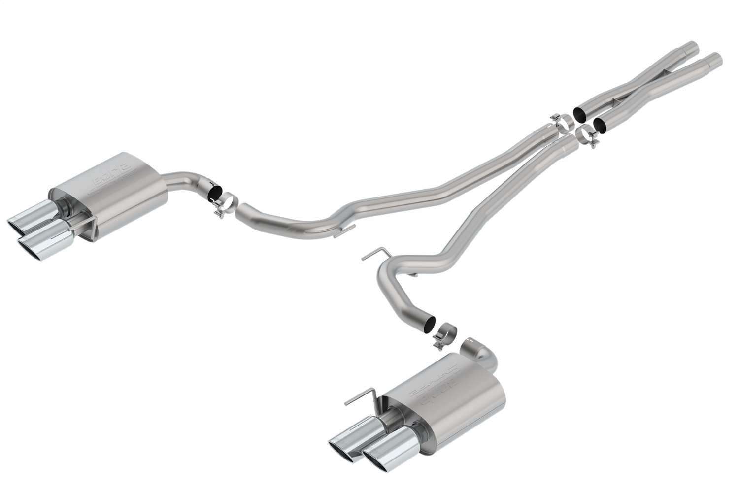 Borla 140807 S-Type Cat-Back Exhaust System Fits 19-20 Mustang