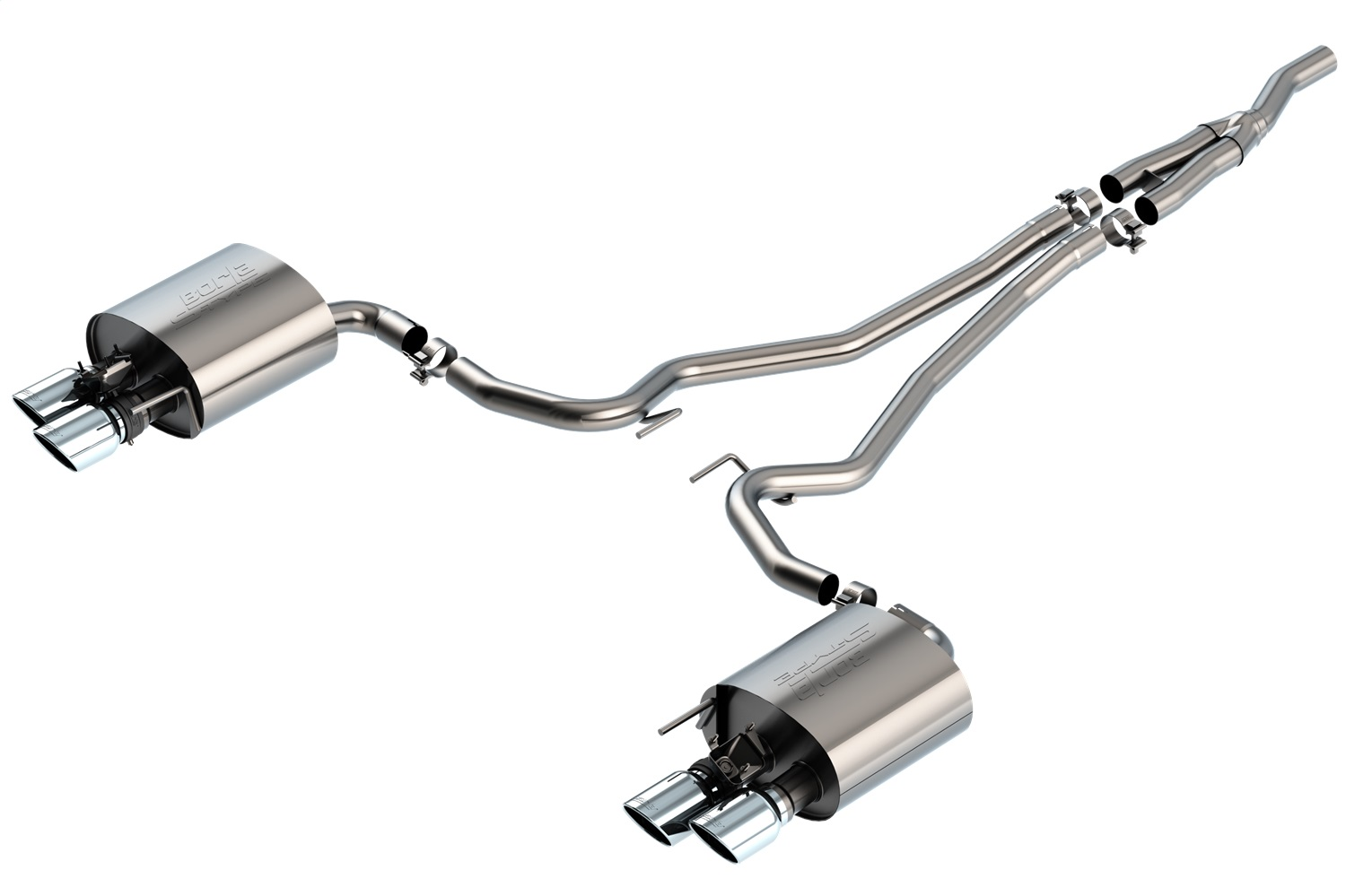 Borla 140827 S-Type Cat-Back Exhaust System Fits 19-20 Mustang