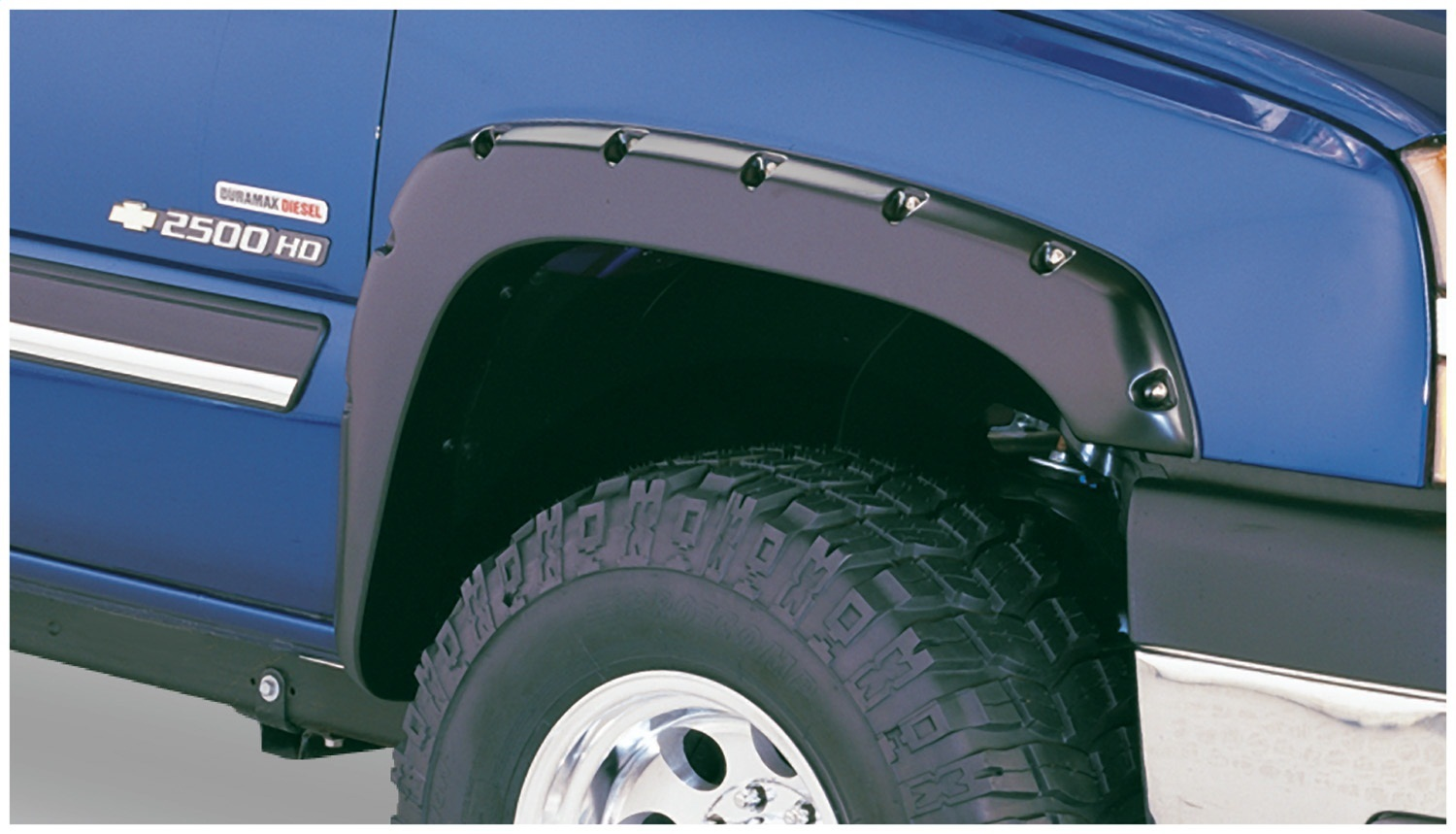 Pocket Styler Fender Flares, 2 pc., Front Tire Coverage 2 in., Front Height 4.25 in., Smooth Finish, Black