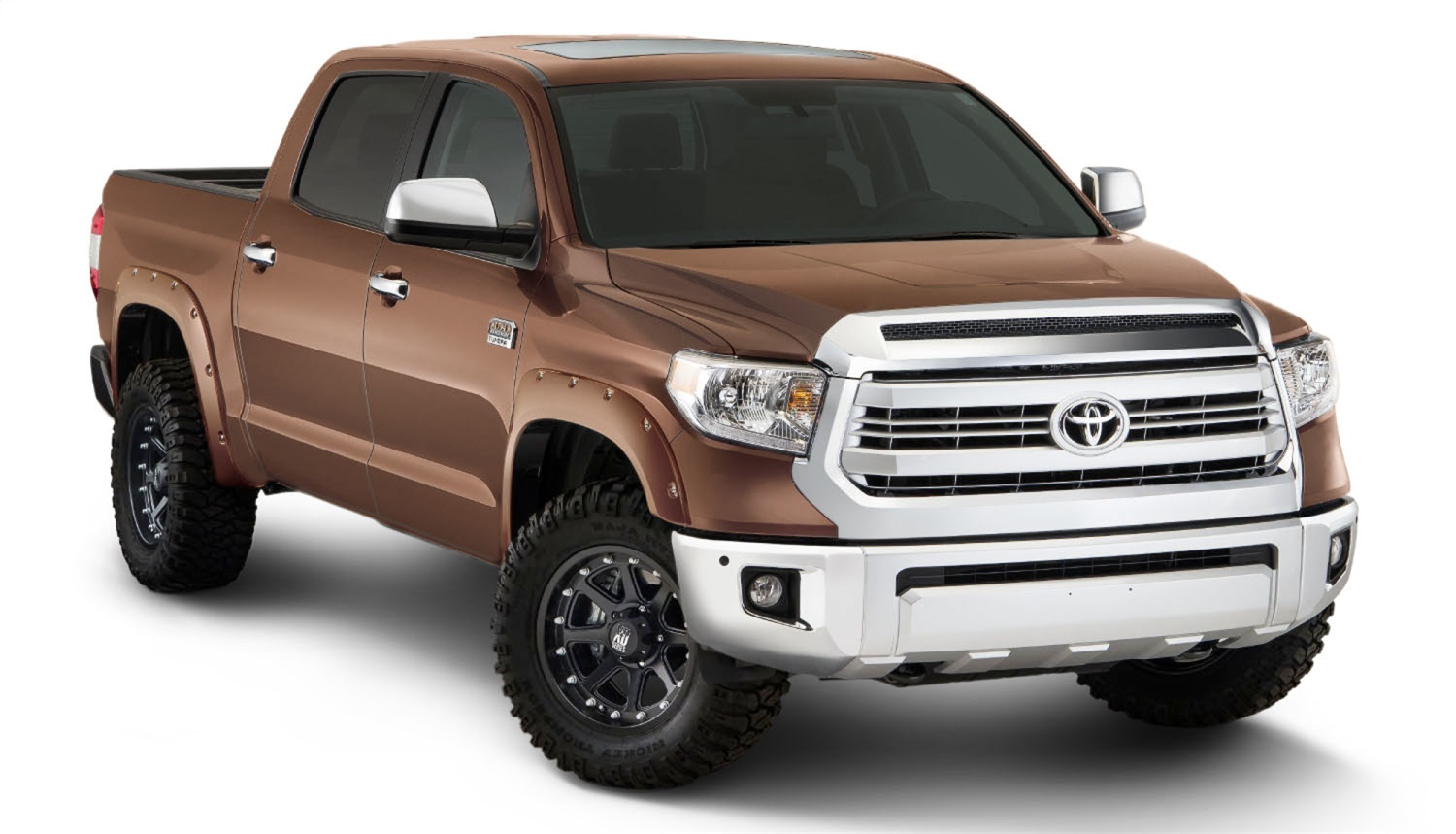 Pocket Styler Painted Fender Flares, 4 pc., Front Tire Coverage 1.75 in., Front Height 4.5 in., Rear Tire Coverage 1.75 in, Rear Height 4.5 in., Sunset Bronze Mica