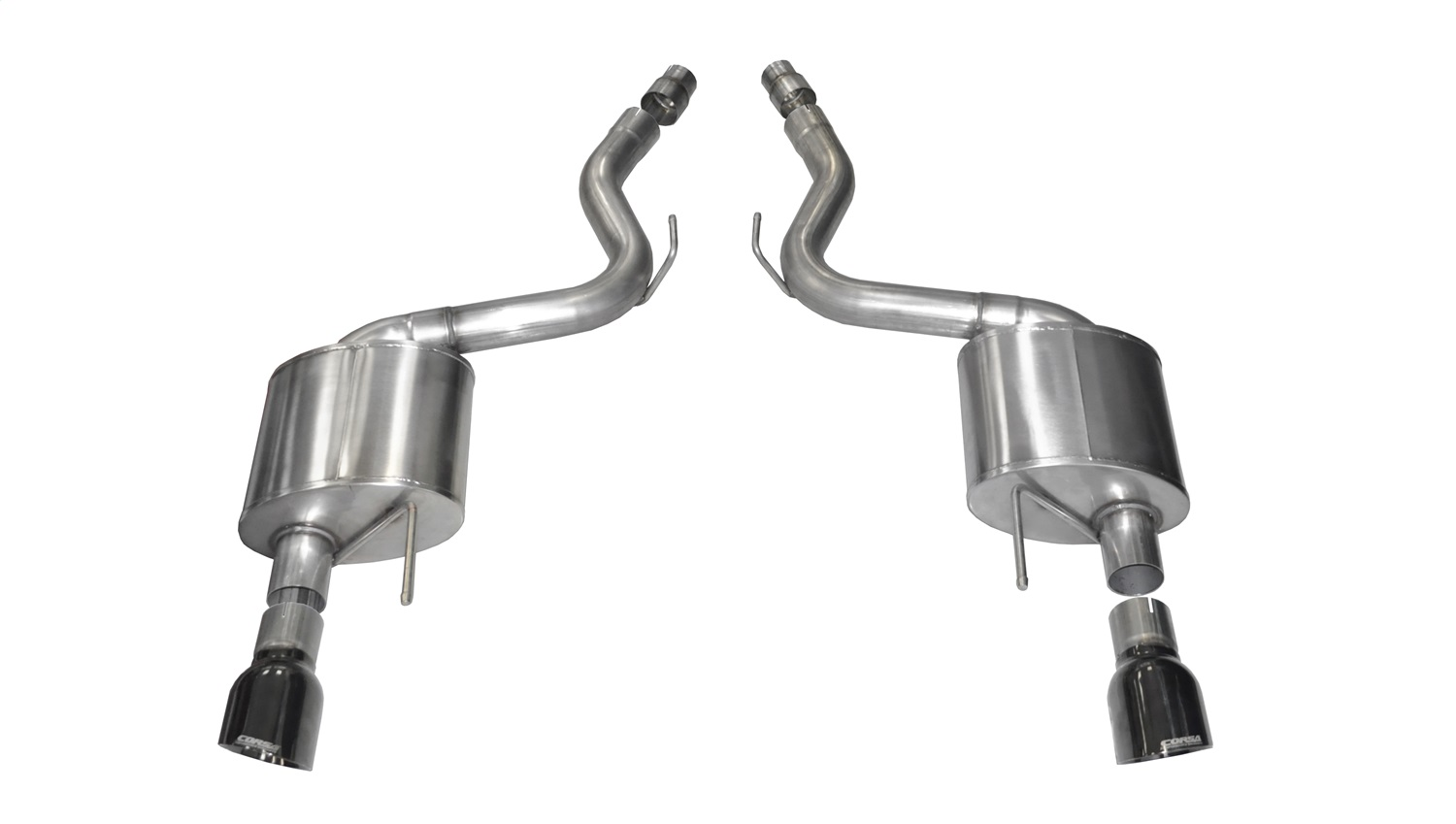 Corsa Performance 14326BLK Sport Axle-Back Exhaust System Fits 15-17 Mustang