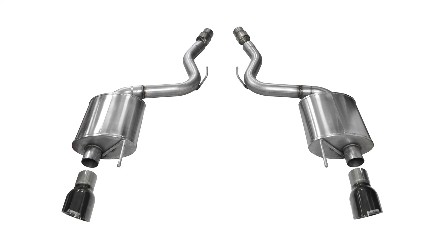 Corsa Performance 14329BLK Touring Axle-Back Exhaust System Fits 15-17 Mustang
