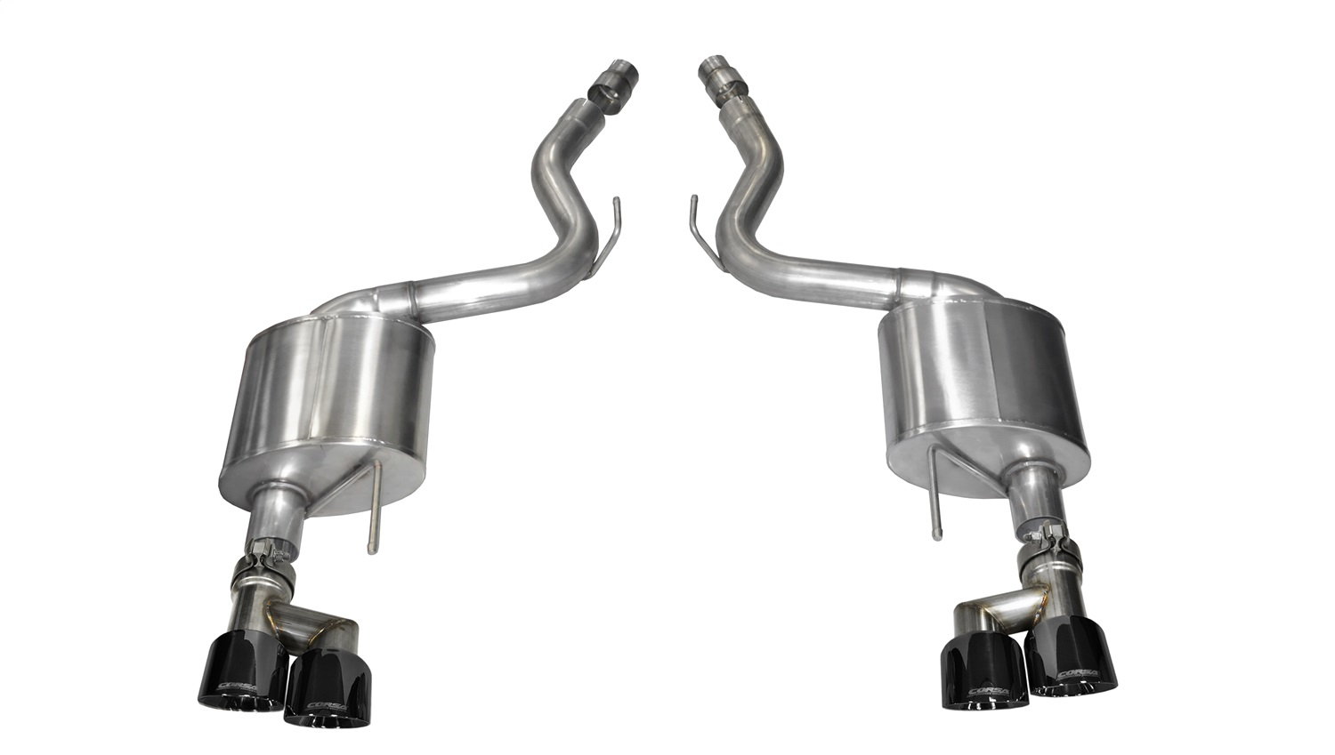 Corsa Performance 14334BLK Sport Axle-Back Exhaust System Fits 15-18 Mustang