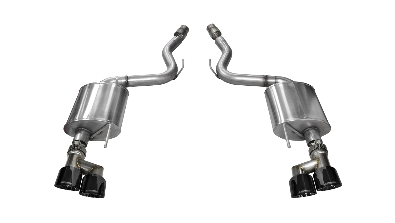 Corsa Performance 14336BLK Touring Axle-Back Exhaust System Fits 15-18 Mustang