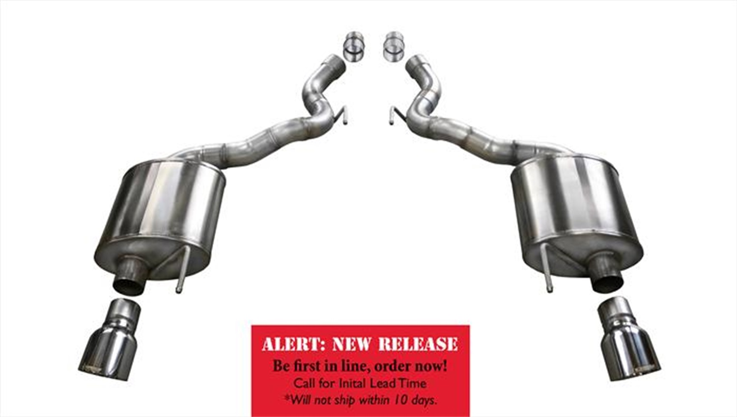 Corsa Performance 14338 Touring Axle-Back Exhaust System Fits 15-17 Mustang