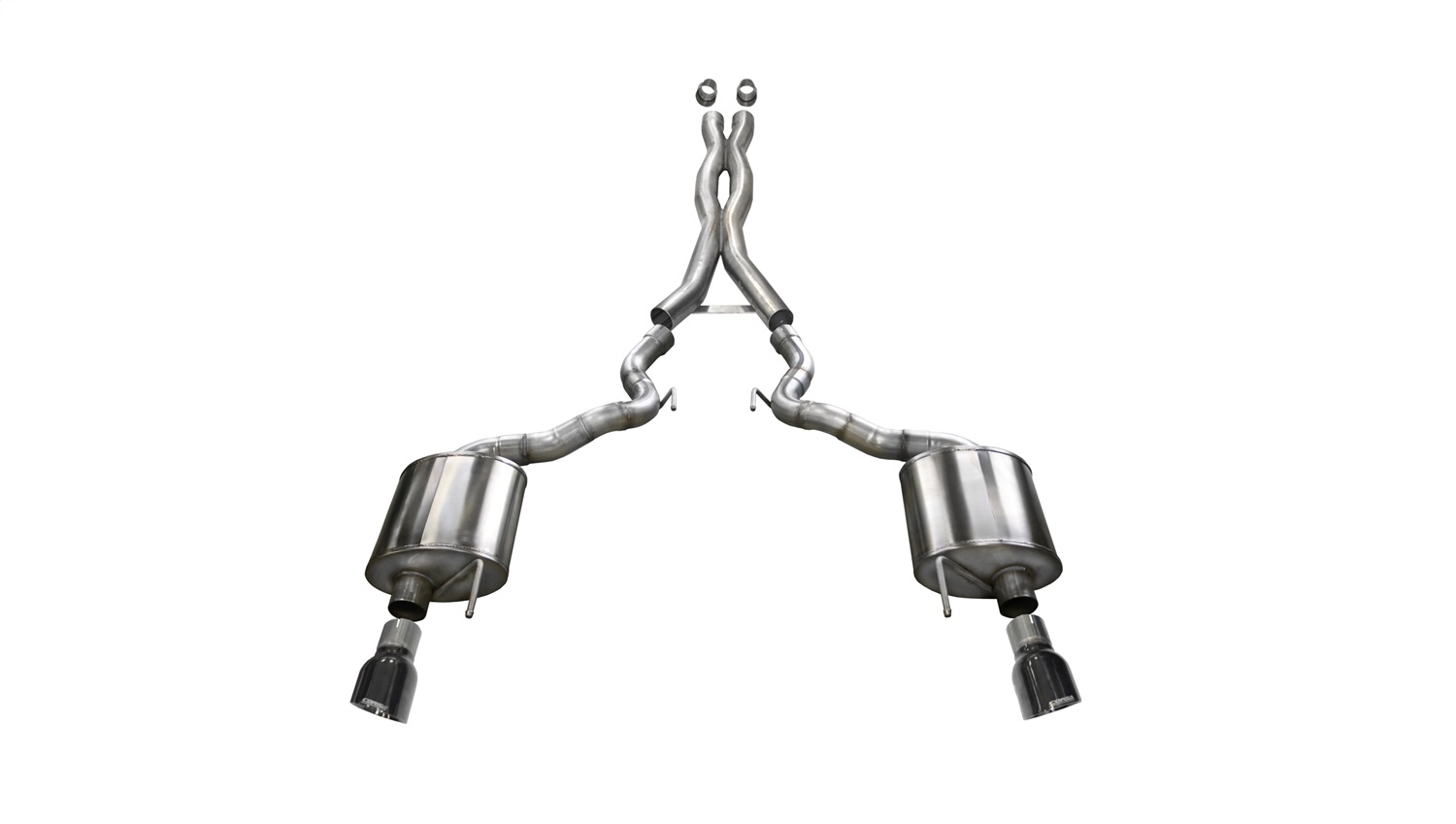 Corsa Performance 14341BLK Sport Cat-Back Exhaust System Fits 15-17 Mustang