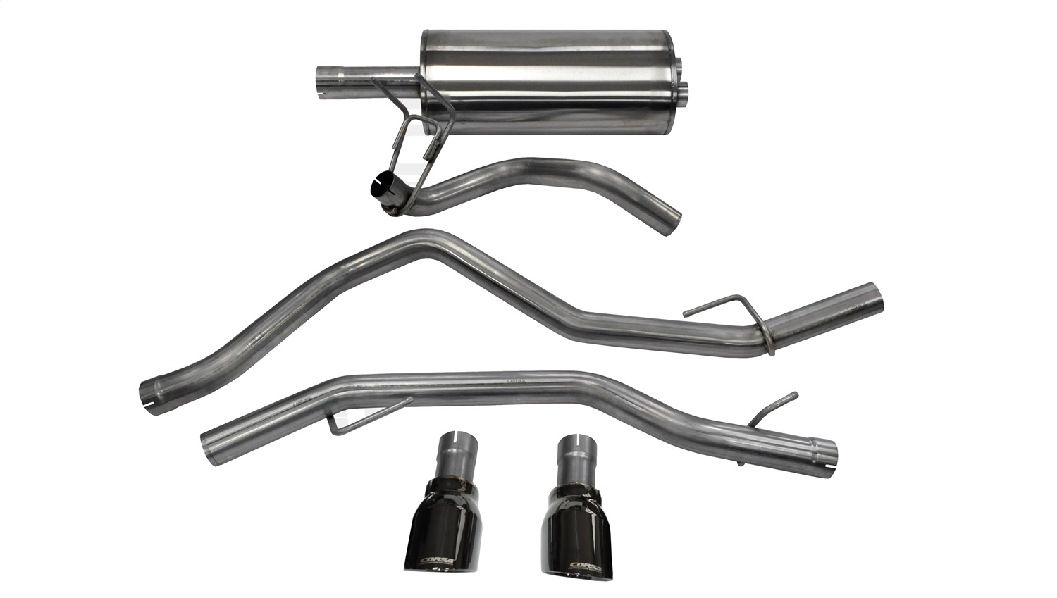 Corsa Performance 14405BLK Sport Cat-Back Exhaust System Fits 1500 1500 Classic