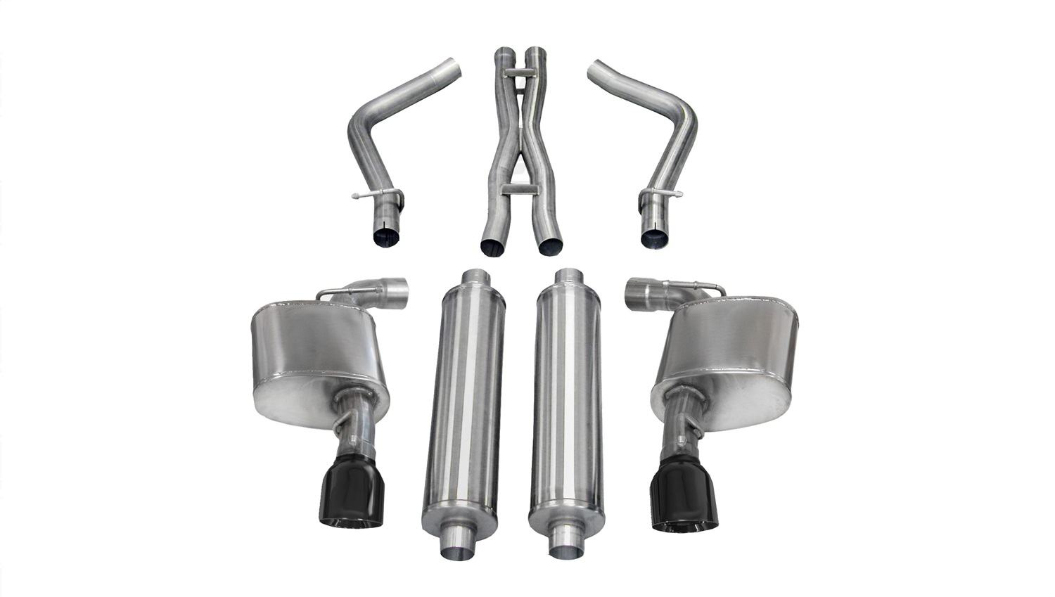 Corsa Performance 14464BLK Xtreme Cat-Back Exhaust System Fits 12-14 300 Charger
