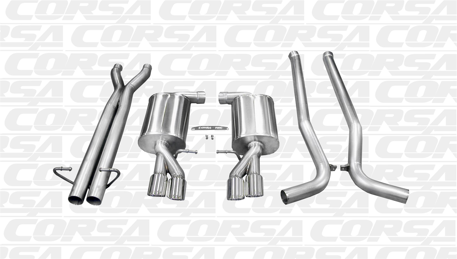 Corsa Performance 14540 Sport Cat-Back Exhaust System Fits 05-09 S4