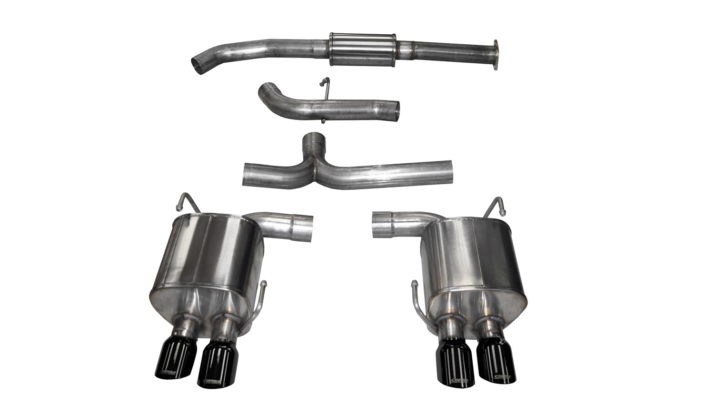 Corsa Performance 14857BLK Sport Cat-Back Exhaust System Fits 15-19 WRX WRX STI