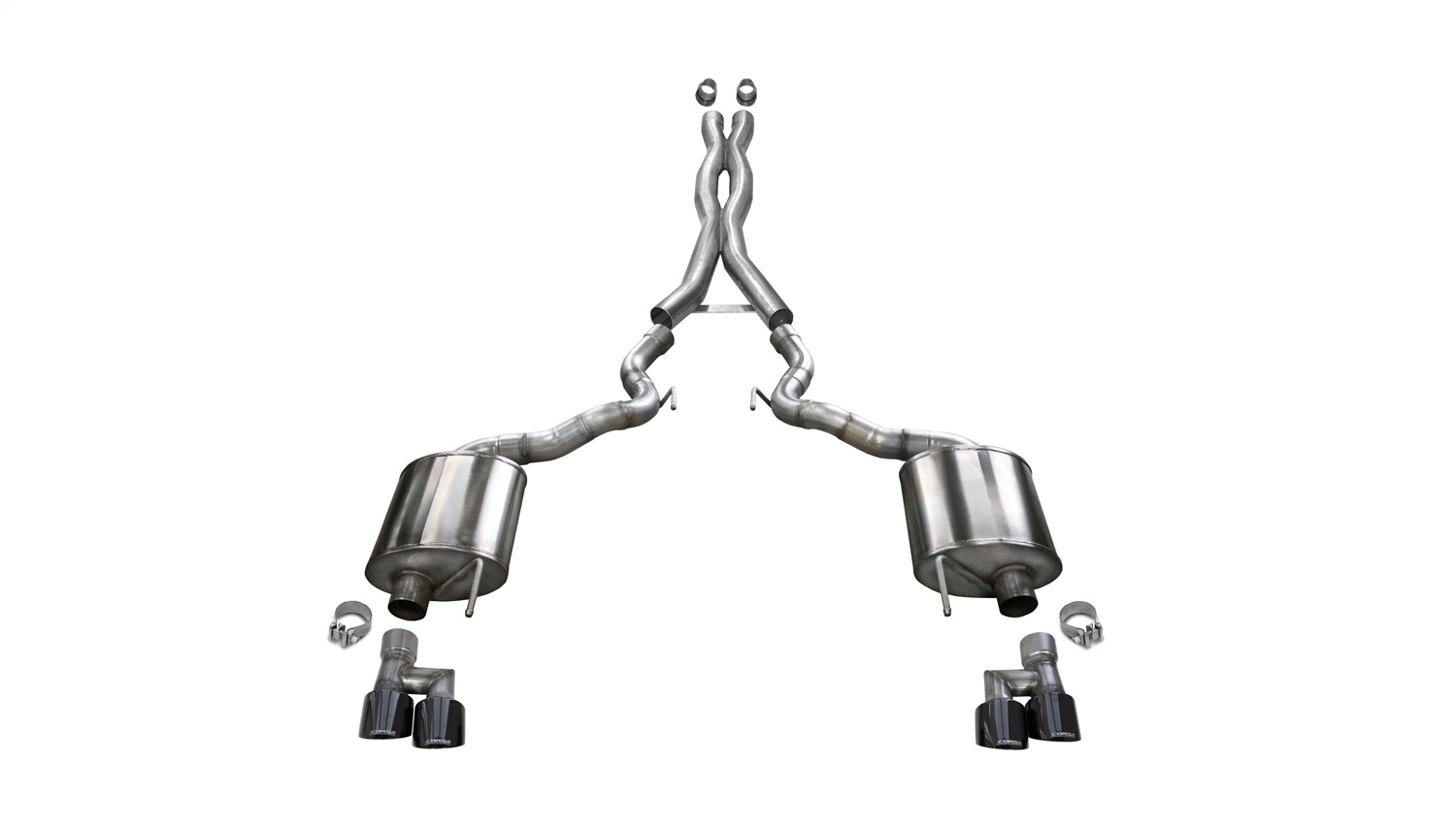 Corsa Performance 21047BLK Sport Cat-Back Exhaust System Fits 19 Mustang