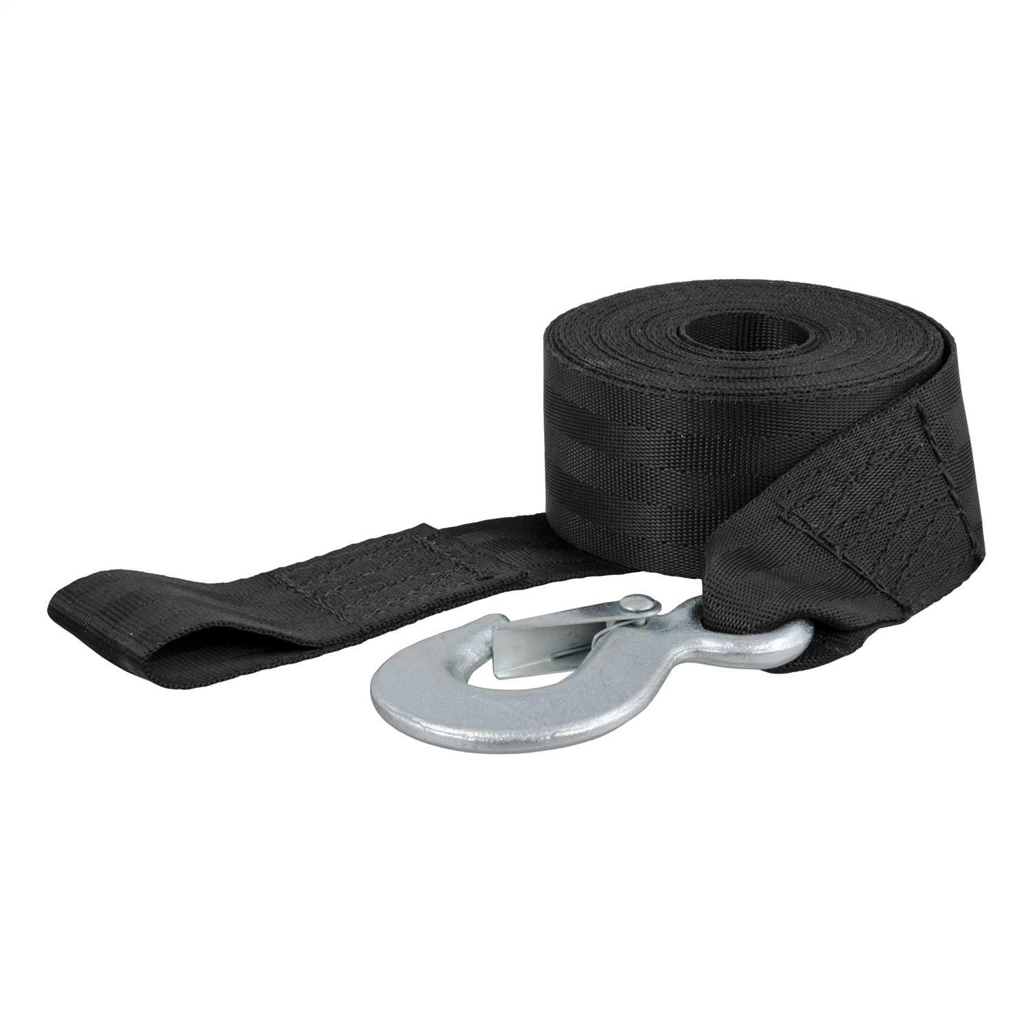 Winch Strap, Length-20 ft., Width-2 in., 3300lbs. Break Strength, 1100lbs. Work Load, Nylon Web, w/Zinc Snap Hook
