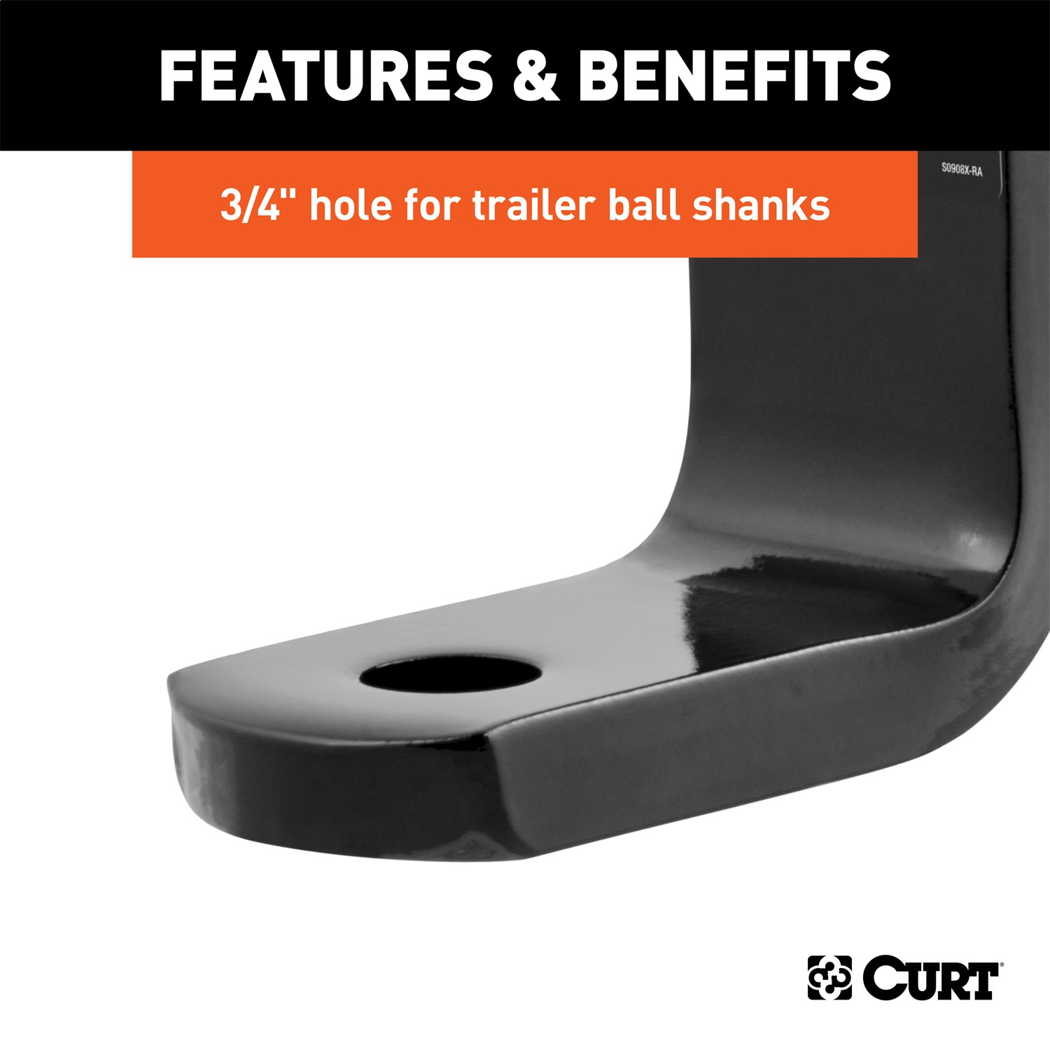 3//4-Inch Ball Hole 2-5//8-Inch Rise 3-1//4-Inch Drop 2,000 lbs Fits 1-1//4-Inch Receiver CURT 45026 Class 1 Trailer Hitch Ball Mount GTW