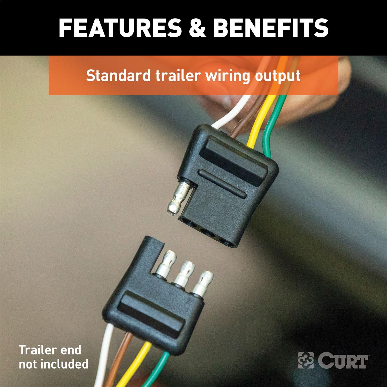 Curt 56404 Custom Wiring Harness Fits 13