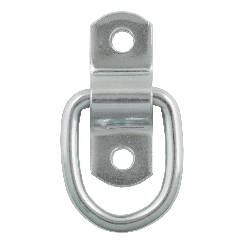 Rope D-Ring, Bulk, Zinc Finish, 1200lbs. Capacity, 10 Ga., .225 Dia.