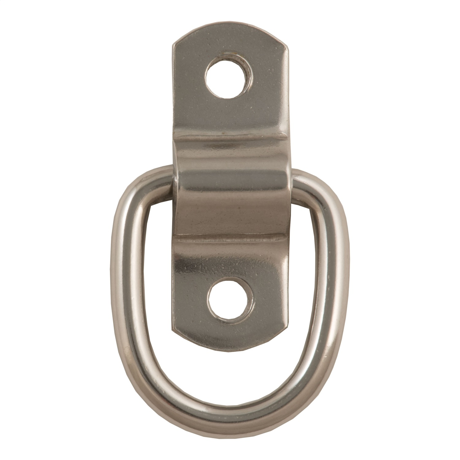 Rope D-Ring, Stainless Steel Finish, 1200lbs. Capacity, 10 Ga., .225 Dia.