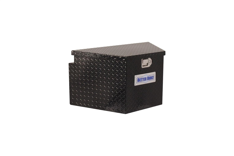 Better Built 66212322 Utility Trailer Tongue Tool Box; BLACK; Short; V Shaped 34rear L; 16 front L; x