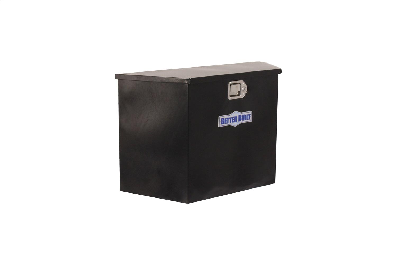 Better Built 66212324 Utility Tralier Tongue Box; Black Steel; Tall; V Shaped