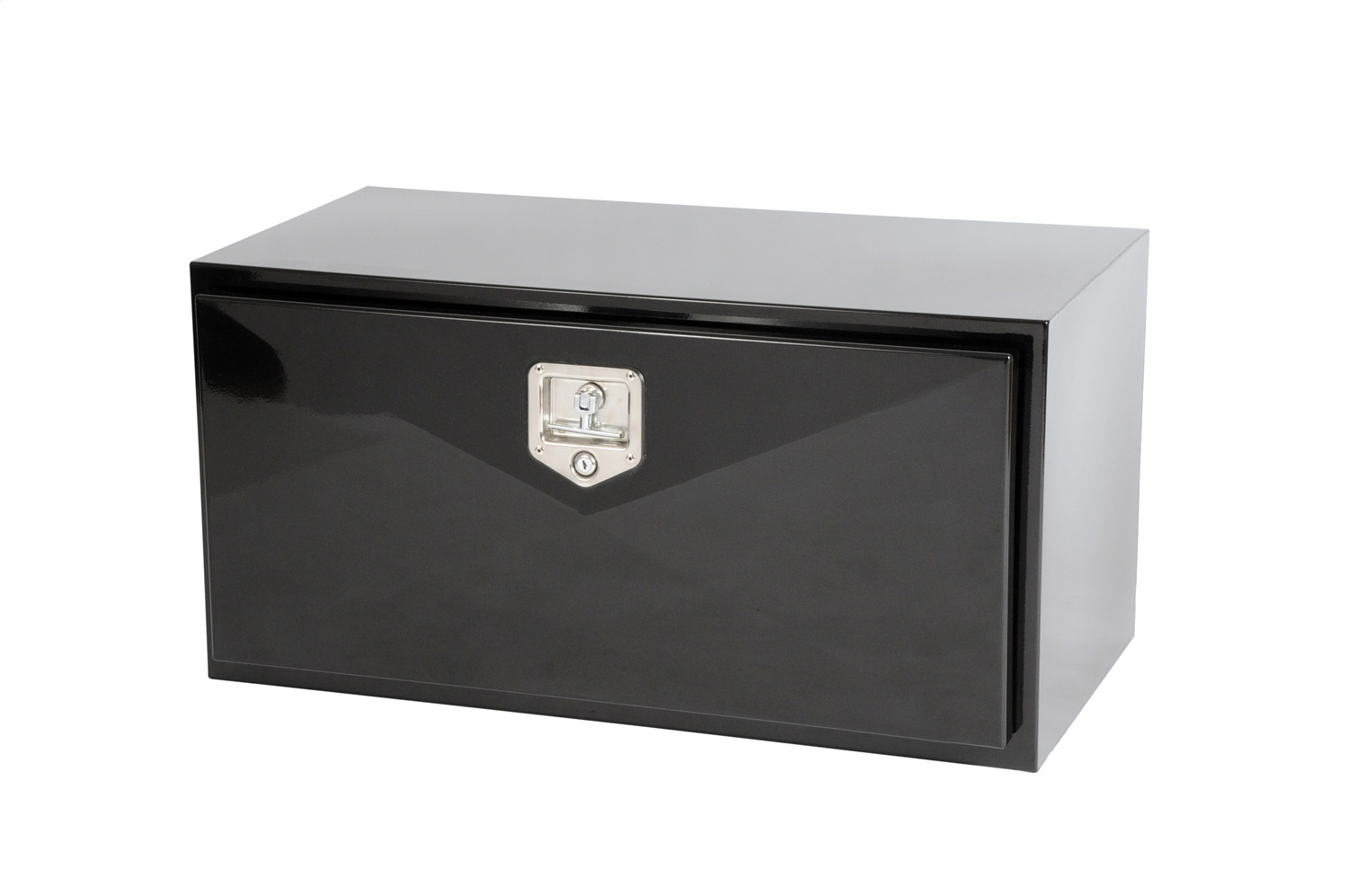 Underbed Tool Box, 12-Gauge Steel, Gloss Black Powder Coat, Volume 6.75 cu. ft., 36 in x 18 in. x 18 in., Mounting Brackets Sold Separately