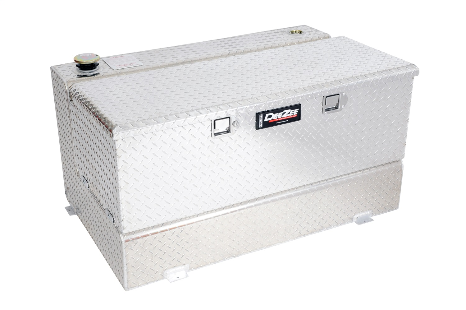 Specialty Series Combo L-Shaped Tool Box/Liquid Transfer Tank, 0.125 Aluminum Brite-Tread Uncoated, Volume 92 Gallons, L 46.75 in. x W 32.75 in. x H 25.5 in.