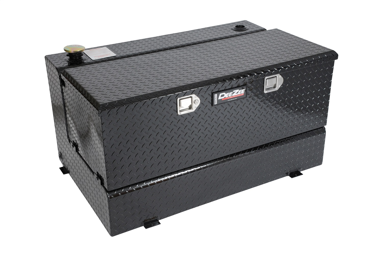 Specialty Series Combo L-Shaped Tool Box/Liquid Transfer Tank, 0.125 Aluminum Black Tread, Volume 92 Gallons, L 46.75 in. x W 32.75 in. x H 25.5 in.