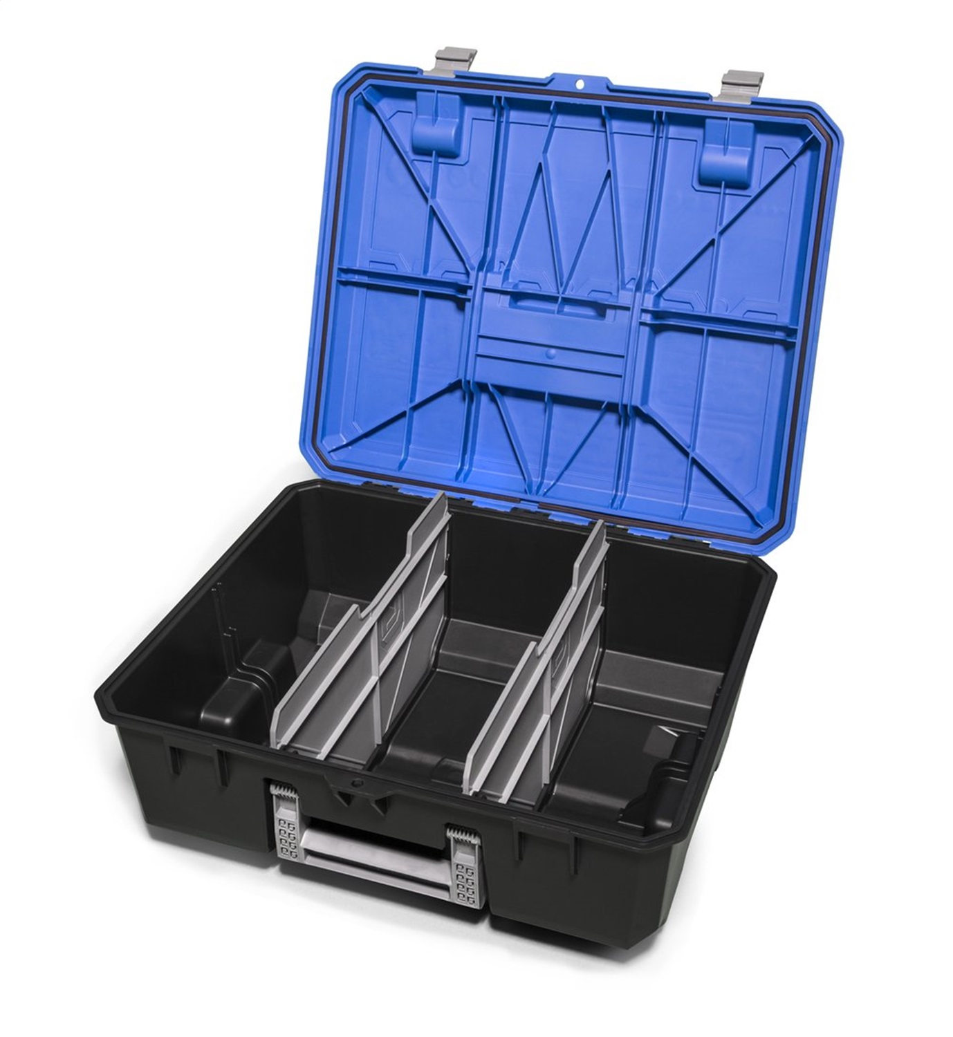 D-Box Drawer Tool Box, Includes Recessed Locking Levers/EPDM Gasket/2 Removable Dividers/2 Grip Points/Horizontal And Vertical Carry Handles/Ruler And Common Bolt/Fit Guide