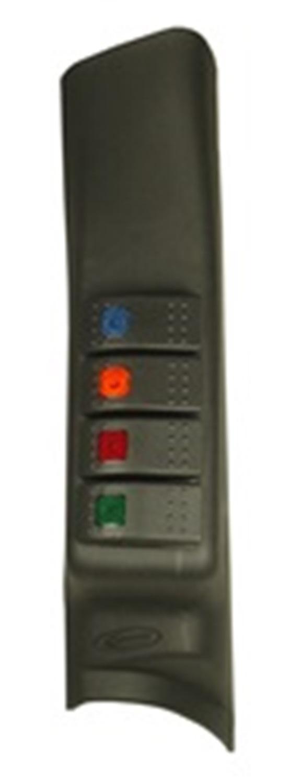 Daystar KJ71044BK A-Pillar Switch Pod Fits 07-10 Wrangler (JK)