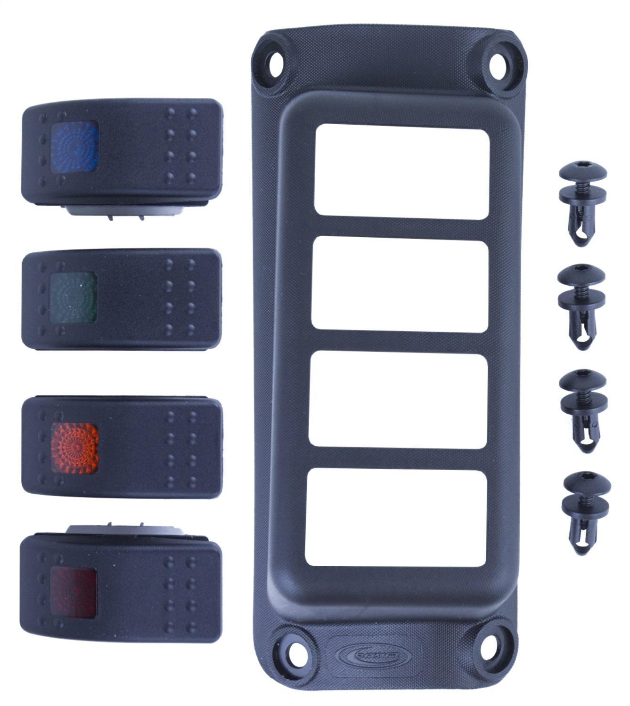 Daystar KJ71056BK A-Pillar Switch Pod Fits 07-18 Wrangler (JK)