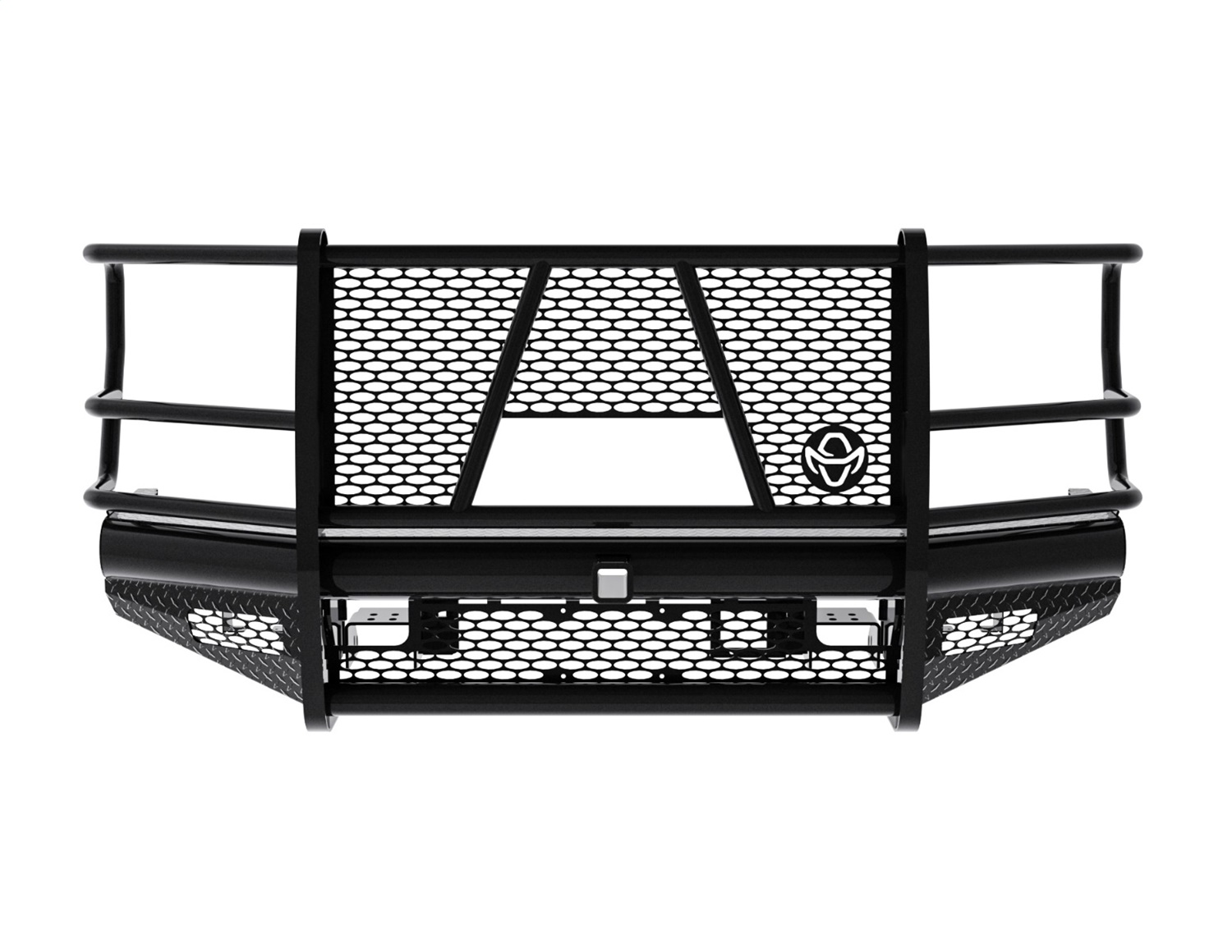 Legend Series Front Bumper, Retains Factory Tow Hooks, w/Grill Guard, w/Camera Cutout