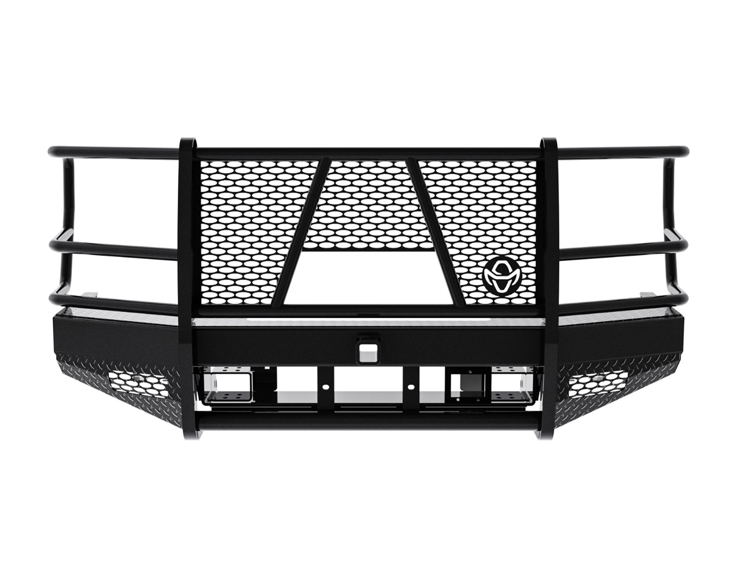 Sport Series Winch Ready Front Bumper, For Use w/Up To 15K Winch, Retains Factory Tow Hooks And Fog Lights, w/Camera Access/Camera Ready