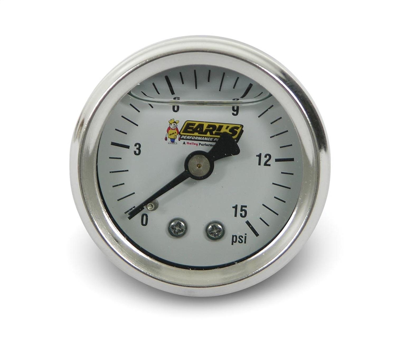Earls Plumbing 100189ERL Fuel Pressure Gauge