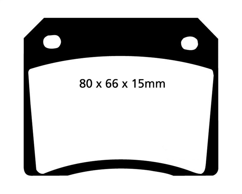 EBC Brakes DP3885C Redstuff Ceramic Low Dust Brake Pad