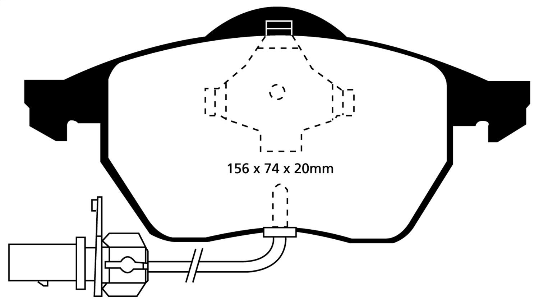 EBC Brakes DP21114 EBC Greenstuff 2000 Series Sport Brake Pads