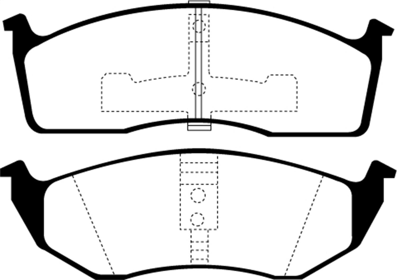 ebc brakes ud591 ebc ultimax brake pads fits 93