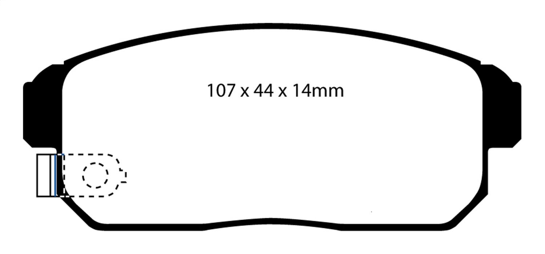 EBC Brakes DP31691C EBC Redstuff Ceramic Low Dust Brake Pads