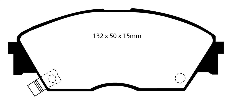 EBC Brakes UD373 EBC Ultimax  Brake Pads Fits 88-91 Civic CRX Prelude