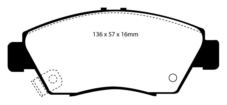 EBC Brakes DP2775 Greenstuff 2000 Series Sport Brake Pad