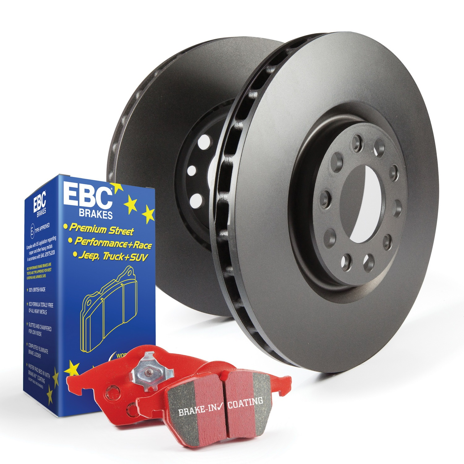 EBC Brakes S12KF1763 S12 Kits Redstuff and RK Rotors Fits 18 Focus