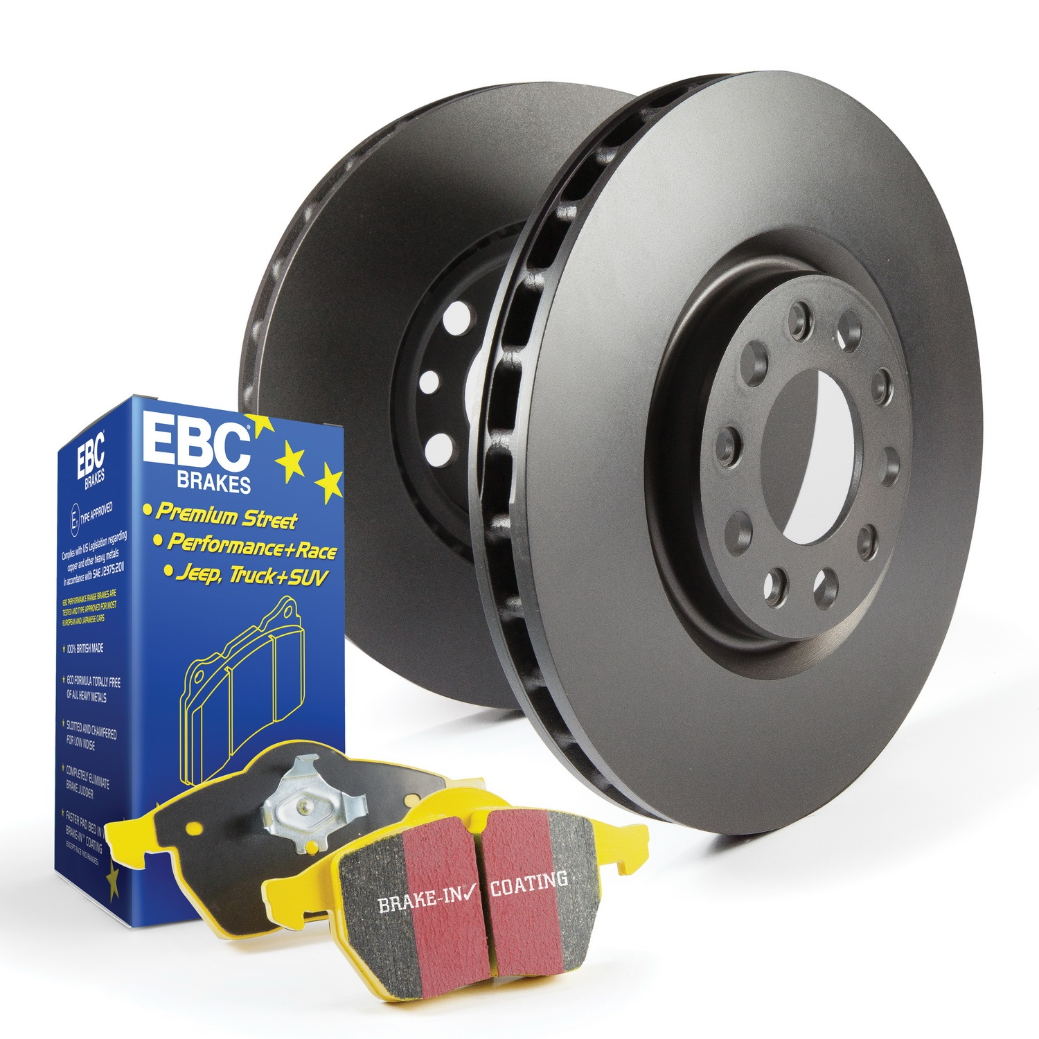 EBC Brakes S13KR1633 S13 Kits Yellowstuff and RK Rotors Fits 535d 535d xDrive