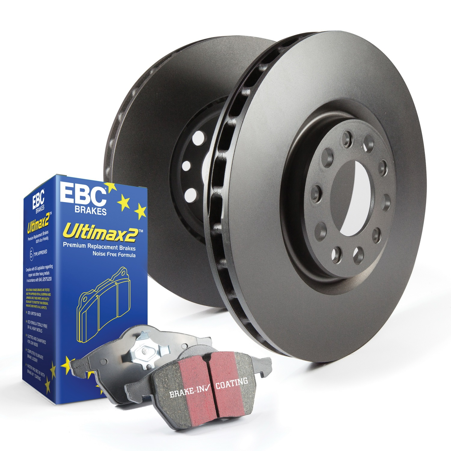EBC Brakes S1KR1559 S1 Kits Ultimax 2 and RK Directional Rotors Fits 15-17 SS