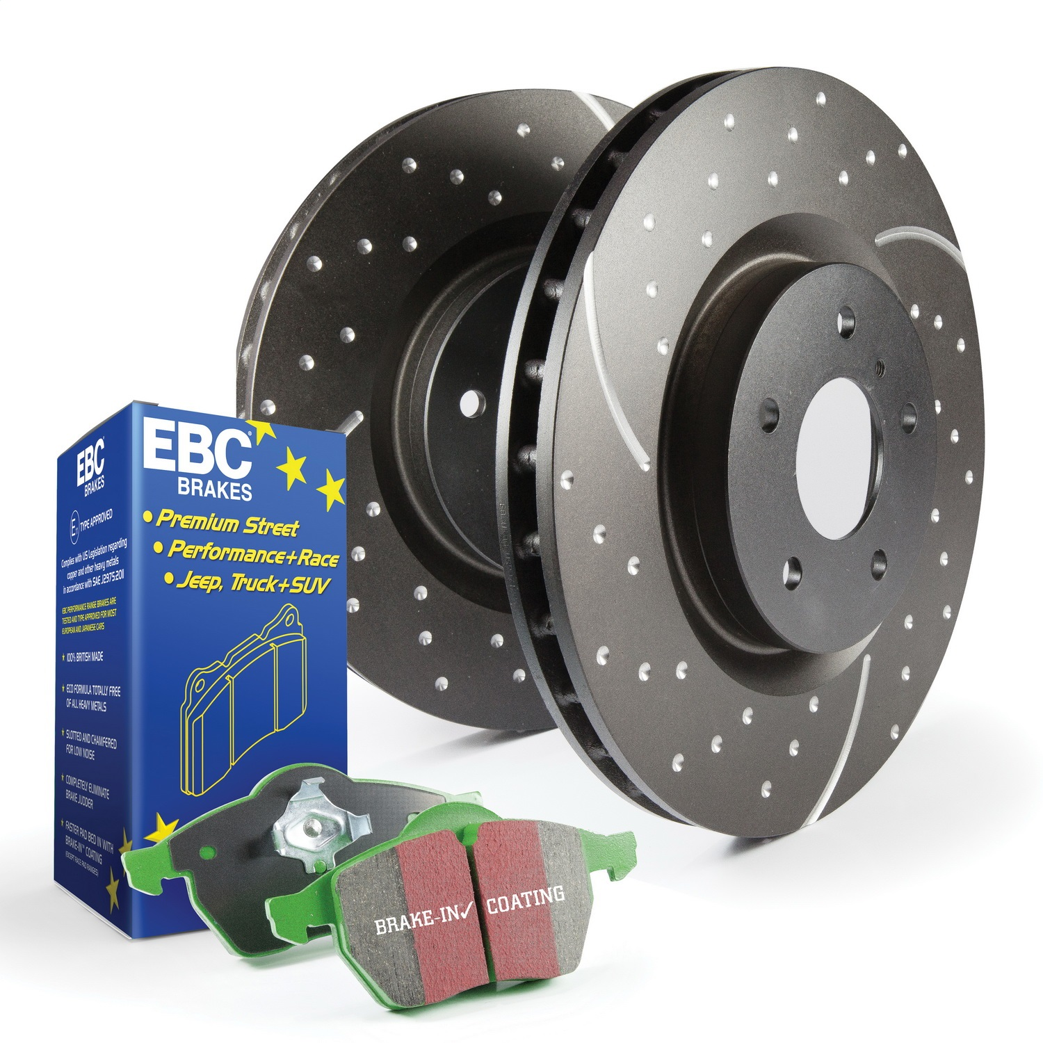 EBC Brakes S3KR1180 S3 Kits Greenstuff 6000 and GD Rotors Truck and SUV