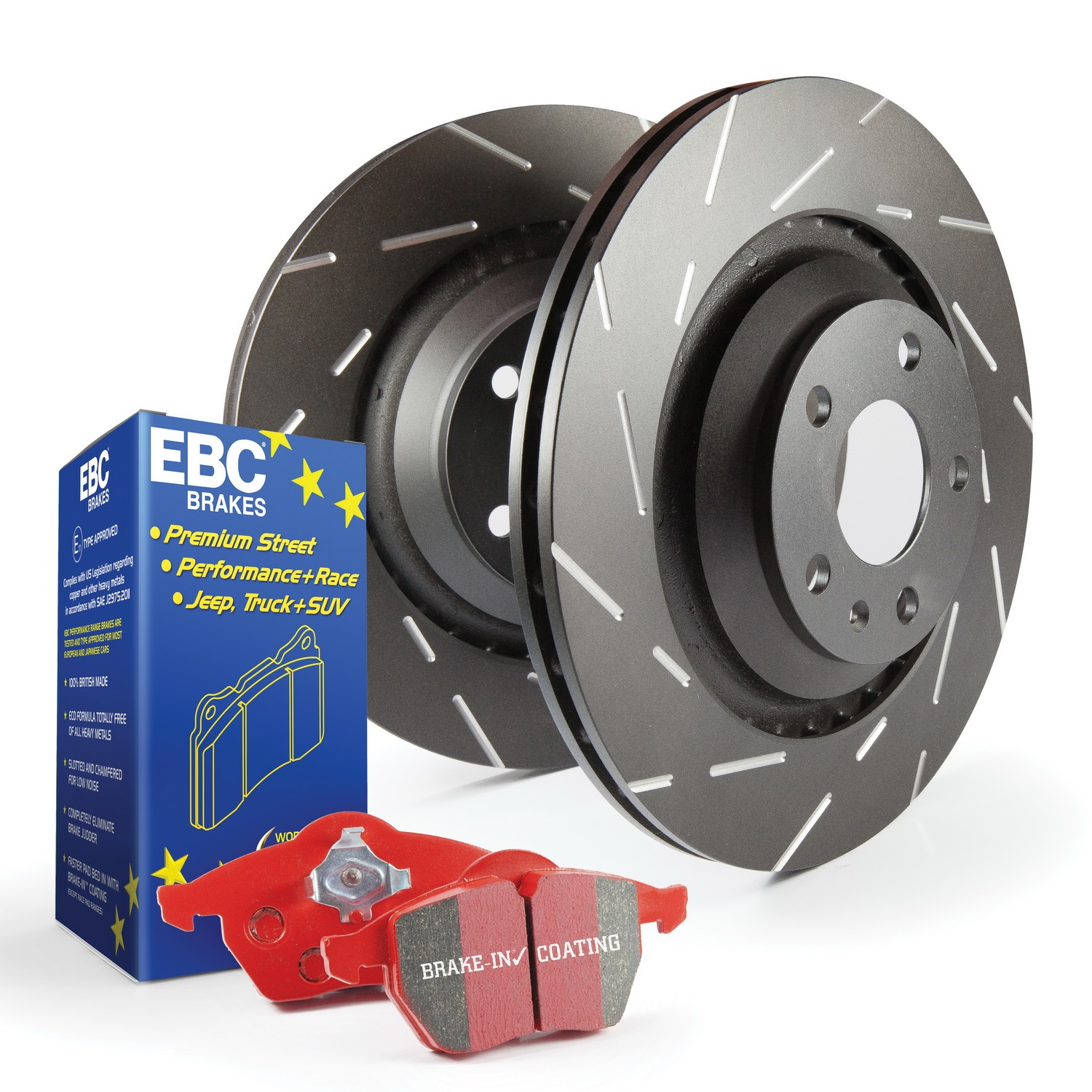 EBC Brakes S4KF1775 S4 Kits Redstuff and USR Rotor Fits 15-18 CTS