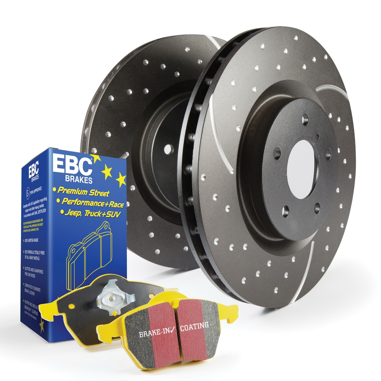 EBC Brakes S5KF1885 S5 Kits Yellowstuff And GD Rotors Fits 11-12 Taurus