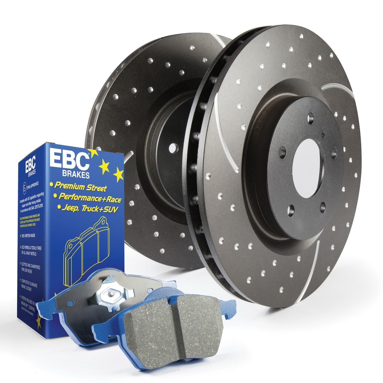 EBC Brakes S6KF1184 S6 Kits Bluestuff and GD Rotors Fits 14-17 SS