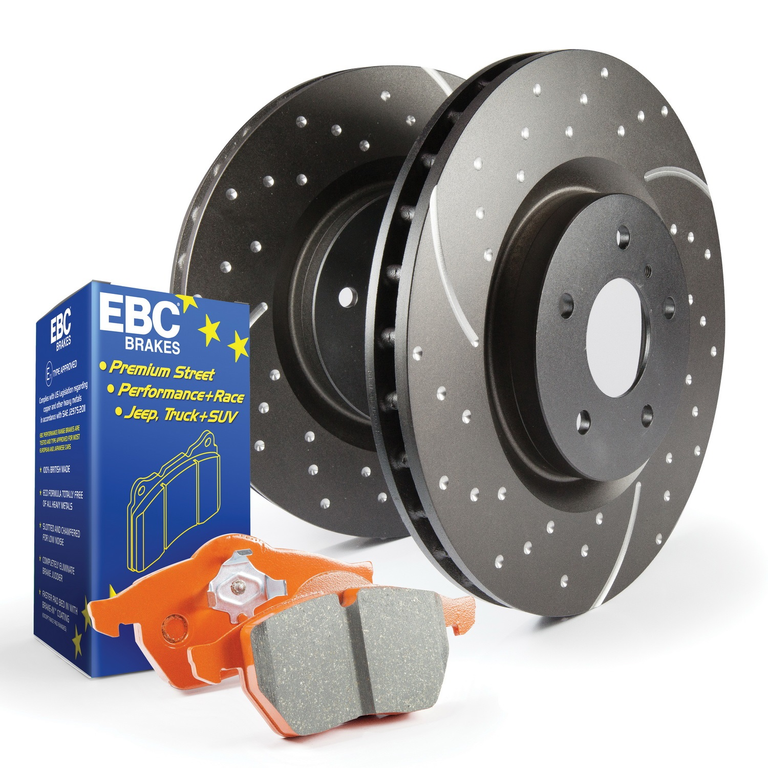 EBC Brakes S8KF1192 S8 Kits Orangestuff And GD Rotor Fits 15-19 Outback
