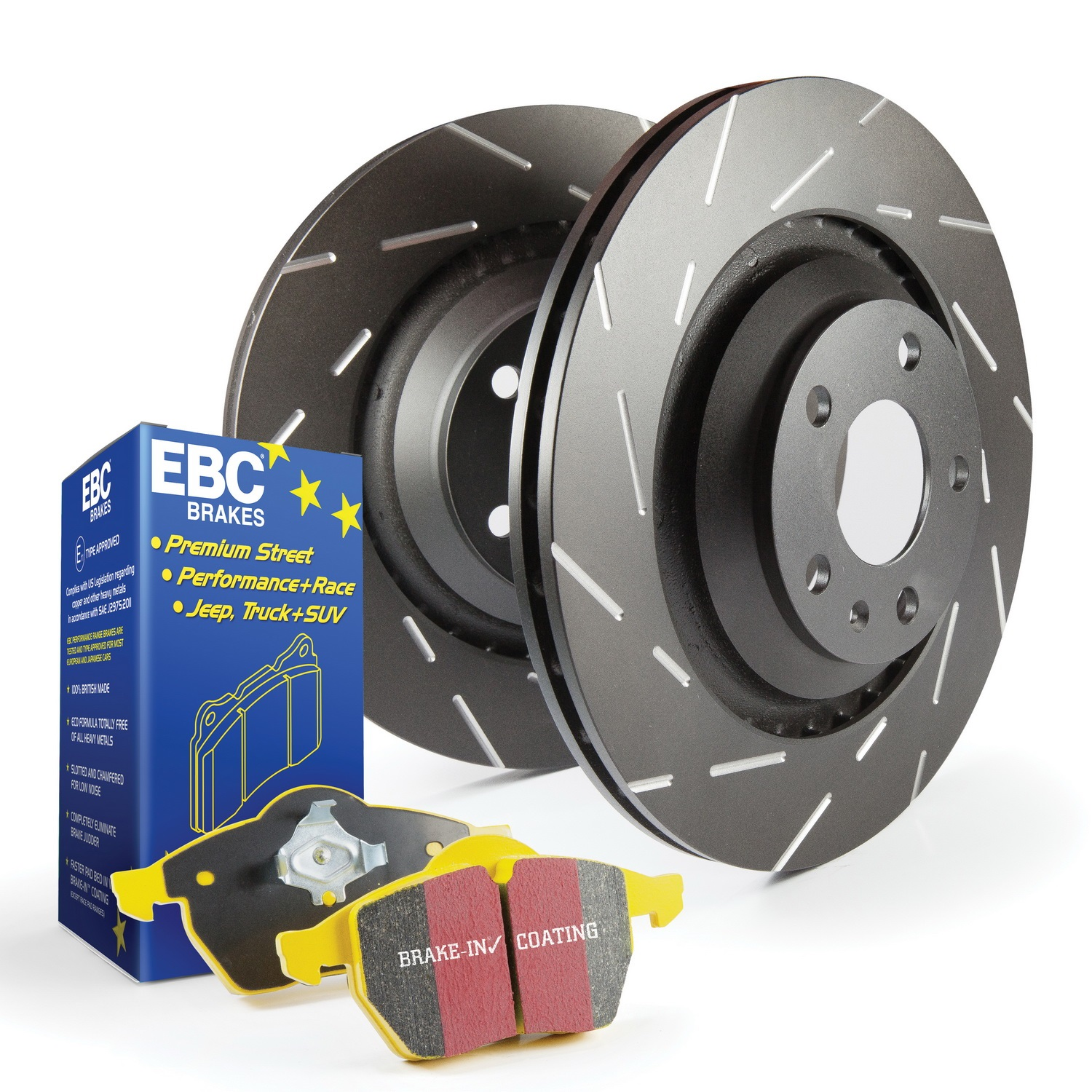EBC Brakes S9KR1531 S9 Kits Yellowstuff and USR Rotors Fits 14-15 IS350