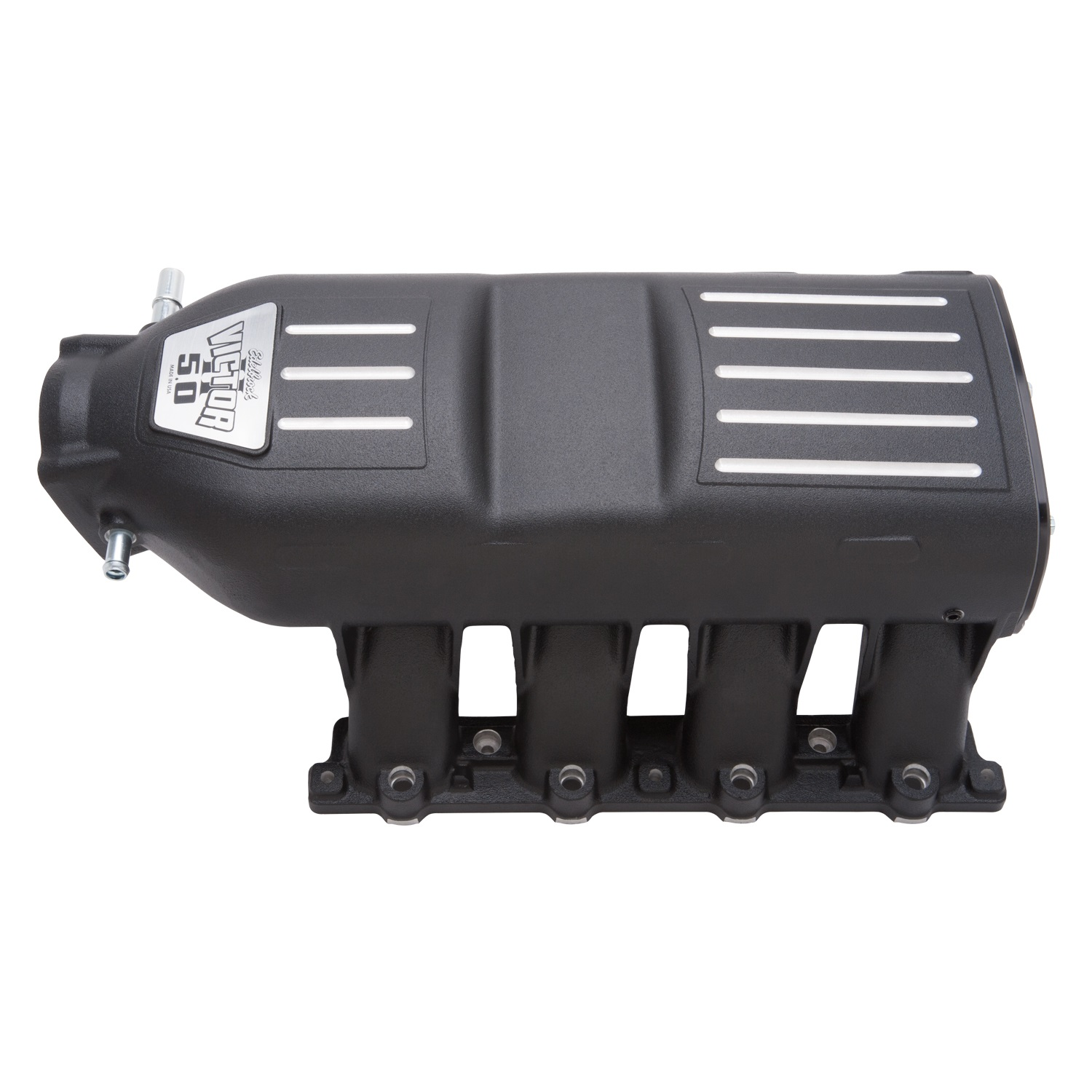 Edelbrock 7180 Victor II Series Intake Manifold 1500-7500 rpm Crossover Style Runners Black Finish
