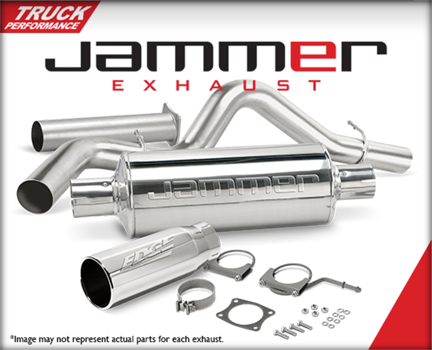DPF-Back Jammer Exhaust, 4 in. Pipe, 5 in. Polished Chrome Tip, Stainless Steel