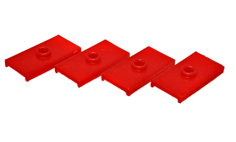 Energy Suspension 10.6102R Leaf Spring Pad Set Fits 63-80 MGB